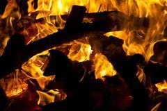 Wood fire Stock Photos