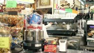 Stock Video Footage of making coffee espresso in a italian bar - dolly