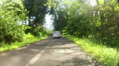 Island Road--Pohnpei, Federated States of Micronesia Stock Footage