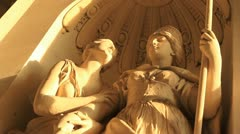 Low angle angel statues Stock Footage