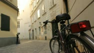 Stock Video Footage of Cobblestone Alley Bicycle