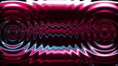 Wavy sound with colorful streaks. Loop. - stock footage