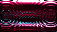 Stock Video Footage of Wavy sound with colorful streaks. Loop.