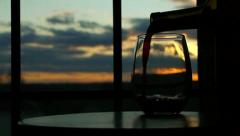 Pouring Wine at Sunset - stock footage