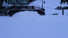 Snow cat pushing snow. Stock Footage