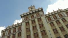Bacardi Building Havana Time Lapse Stock Footage