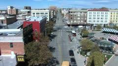 Downtown Cheyenne Wyoming High-shot - stock footage
