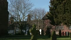 Traditional English village Stock Footage