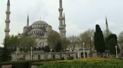 Sultan Ahmed mosque Istanbul Turkey Stock Footage