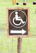 sign for invalid person entry - stock photo