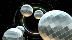 Disco Ball with music Stock Footage