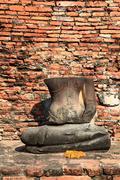 headless buddha statue - stock photo