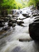 Kao chon waterfall, ratchaburi, thailand Stock Photos