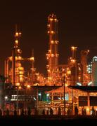 Petrochemical oil refinery plant Stock Photos