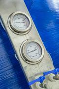 Pressure Gauges - stock photo