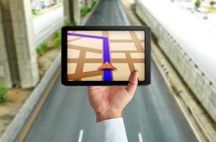 Stock Illustration of touchpad gps