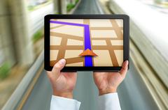touchpad gps - stock illustration