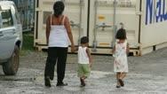Walking around Pohnpei Stock Footage