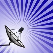 satellite dish - stock illustration