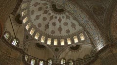 Sultan Ahmed mosque Istanbul Turkey inside Stock Footage