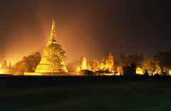 The historical temple in ayutthaya, thailand Stock Photos