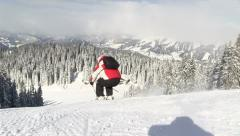 Skiing in Schladming/Planai in Austria Stock Footage