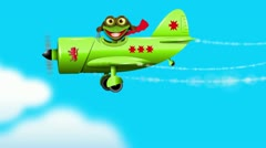 Stock Video Footage of Frog on a green plane