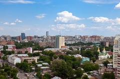 view of the russian city of samara in may 2012 - stock photo