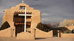 St thomas apostle parish abiquiu new mexico Stock Footage