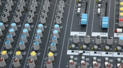 Musical console mixer equalizer Stock Footage