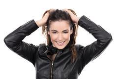 Stock Photo of beautiful brown hair woman