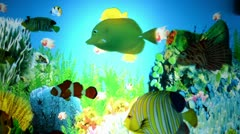 Electric night lamp with fish Stock Footage