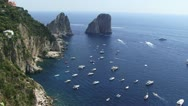 Stock Video Footage of View of boats and islands  in Capri