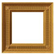 square neoclassical frame - stock photo