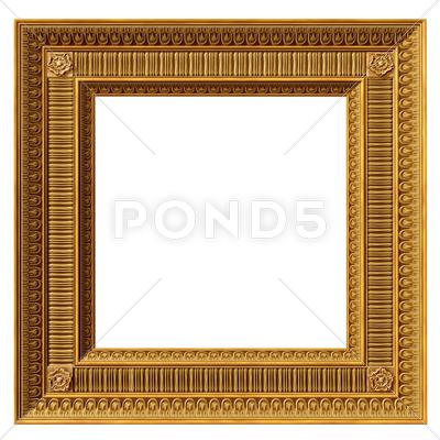 Stock photo of square neoclassical frame
