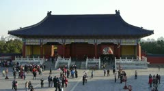 Tourists visitors at the Forbidden City temple,Palace.China ancient. Stock Footage