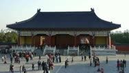 Stock Video Footage of Tourists visitors at the Forbidden City temple,Palace.China ancient.