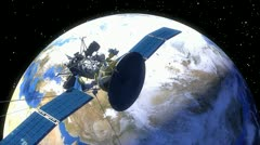 Satellite over Earth Stock Footage