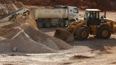 Heavy construction and mining at intersection Stock Footage