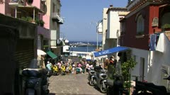 shopping in capri - stock footage