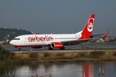 air berlin boeing 737-800 - stock photo
