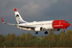 "norwegian boeing 737-800 ""greta garbo"" - stock photo"