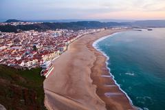 nazare portugal - stock photo