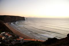 Surf beach in portugal Stock Photos