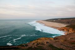 Nazare surf beach Stock Photos