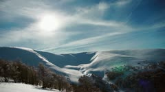 Ukrainian Carpathian Mountains Stock Footage