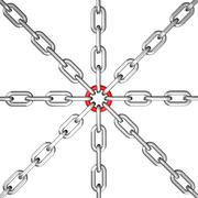 Chain group Stock Illustration