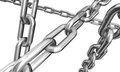 Silver chains Stock Illustration