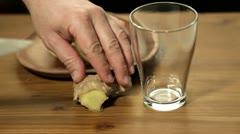 Fresh ginger tea Stock Footage