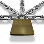 chain closed with a lock - stock illustration